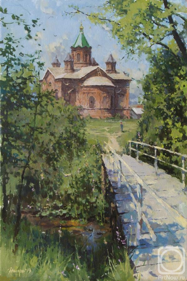 Zhilov Andrey. View of the Trinity Church. Ozerki village