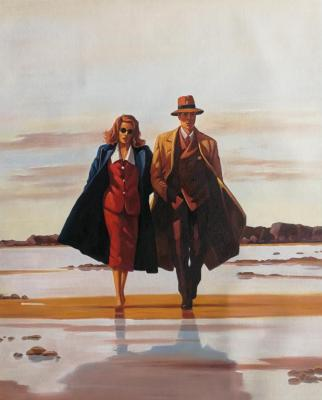 A copy of Jack Vettriano's. The Road To Nowhere. Kamskij Savelij