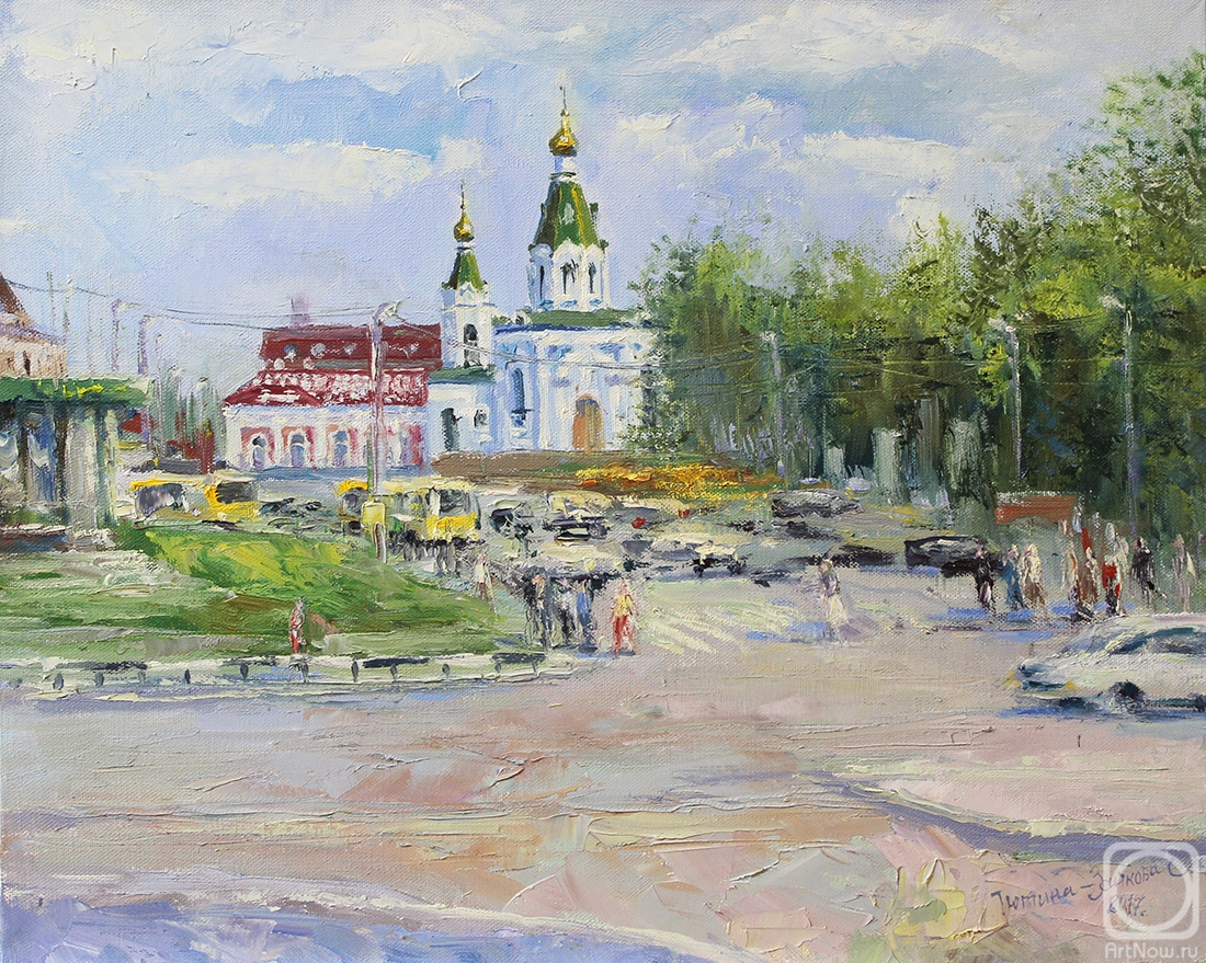 Tyutina-Zaykova Ekaterina. Temple in the name of the Sovereign icon of the mother of God. At the Railway station