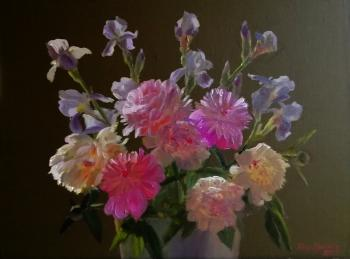 Irises and Peonies. Krasnova Nina