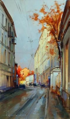 Moscow warm corner. Armenian lane (Historical Center). Shalaev Alexey