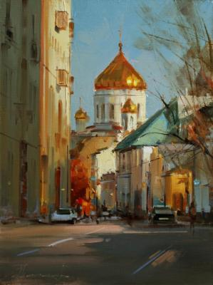 Autumn in Gagarinsky lane. Moscow (The Historical Center). Shalaev Alexey