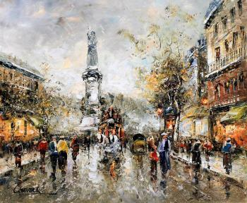 Vevers Christina. Landscape of Paris by Antoine Blanchard. Place de la republic