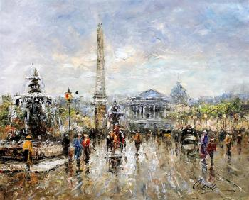 Vevers Christina. Landscape of Paris by Antoine Blanchard. Place de la Concorde