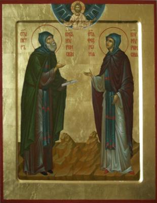 The icon of Saints Peter and Fevronia of Murom