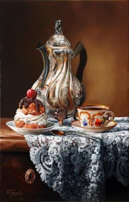 Belova Olga. Still-Life with Silver Teapot