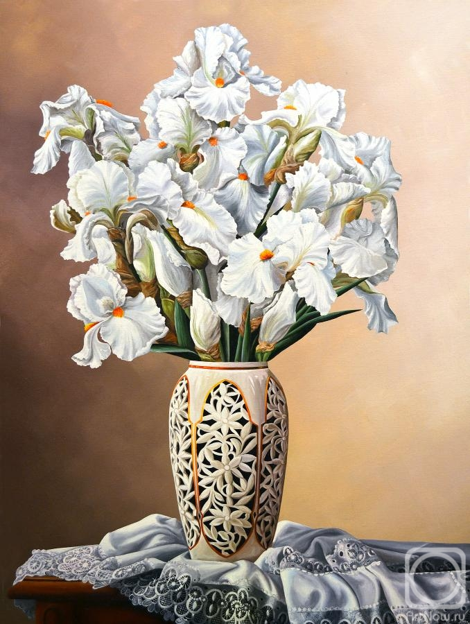 Belova Olga. Still-life with irises