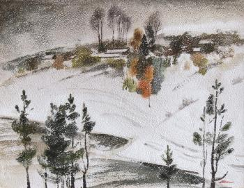 Shkalin Vladimir. October. The first snow