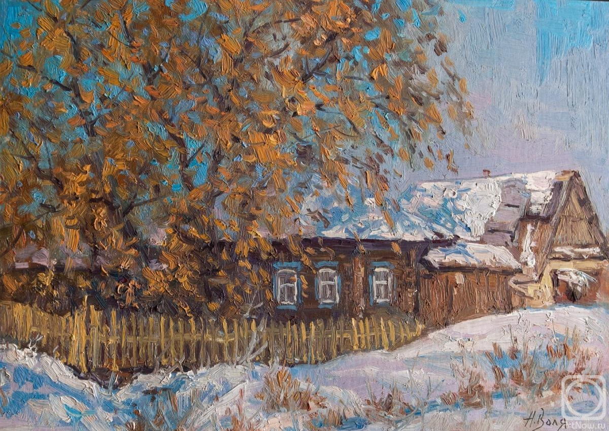 Volya Alexander. House in the village, sketch