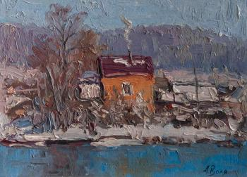 Volya Alexander. House at the river, sketch