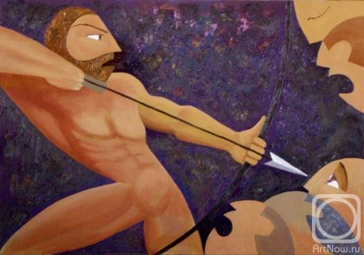 Одиссей, женихи, лук, души, острие