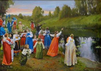Shevchuk Vasiliy. Throwing wreaths into the river in the Midsummer
