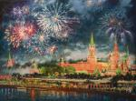 The sky over Moscow sparkles. Razzhivin Igor