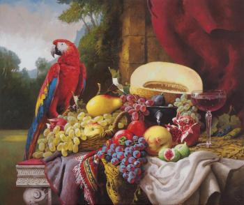 Hamaljan Suren. still life with parrot