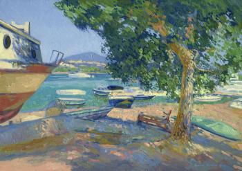 In the shade by the harbor. Kozhin Simon