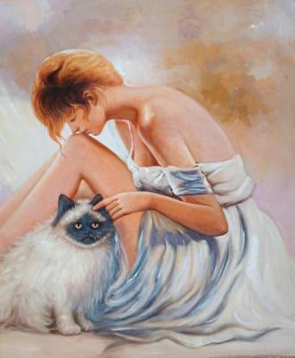 Bruno Tina. Girl and cat