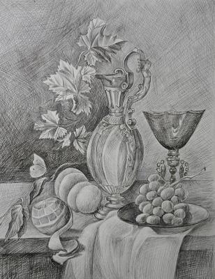 """Still life with a decanter"". Zozoulia Maria"
