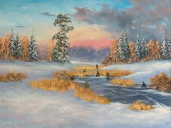 Winter fishing, frost