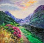 Blooming Path among the Mountains. Vevers Christina