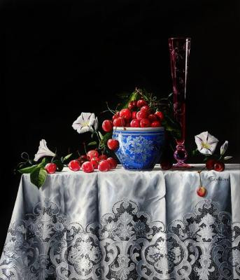 Belova Olga. Still-Life with Sweet Cherry