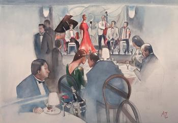 """In the restaurant music plays …"". Zozoulia Maria"