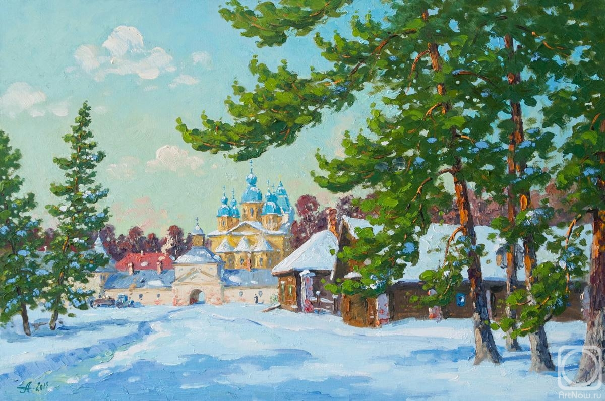 Alexandrovsky Alexander. Winter day at Konevets