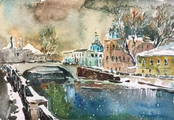 Charina Anna. First snow. Commissariat bridge