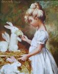 Simonova Olga. Girl with a rabbit