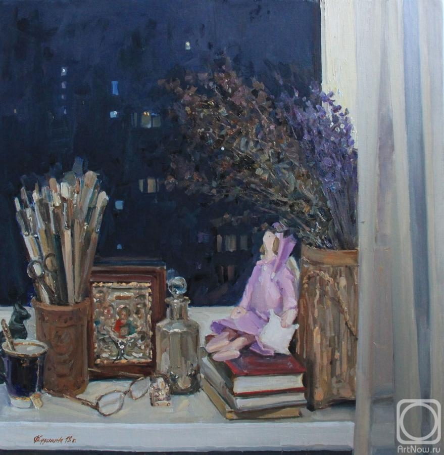 Kuzmina Olga. Warm windows light
