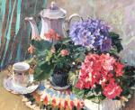 Kuzmina Olga. Still life with violets