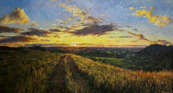 Svinin Andrey. Road to sunset