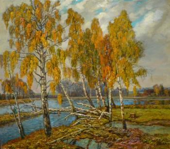 Panov Eduard. Golden birches