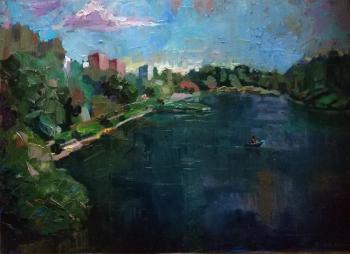 Силаева Нина. School lake in Zelenograd