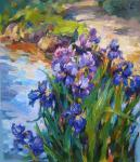 Bocharova Anna. Irises by the water