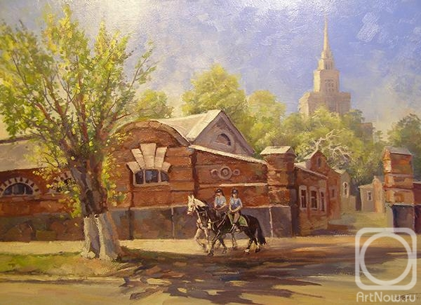 Gerasimov Vladimir. Moscow. On the street Viktorenko good weather!