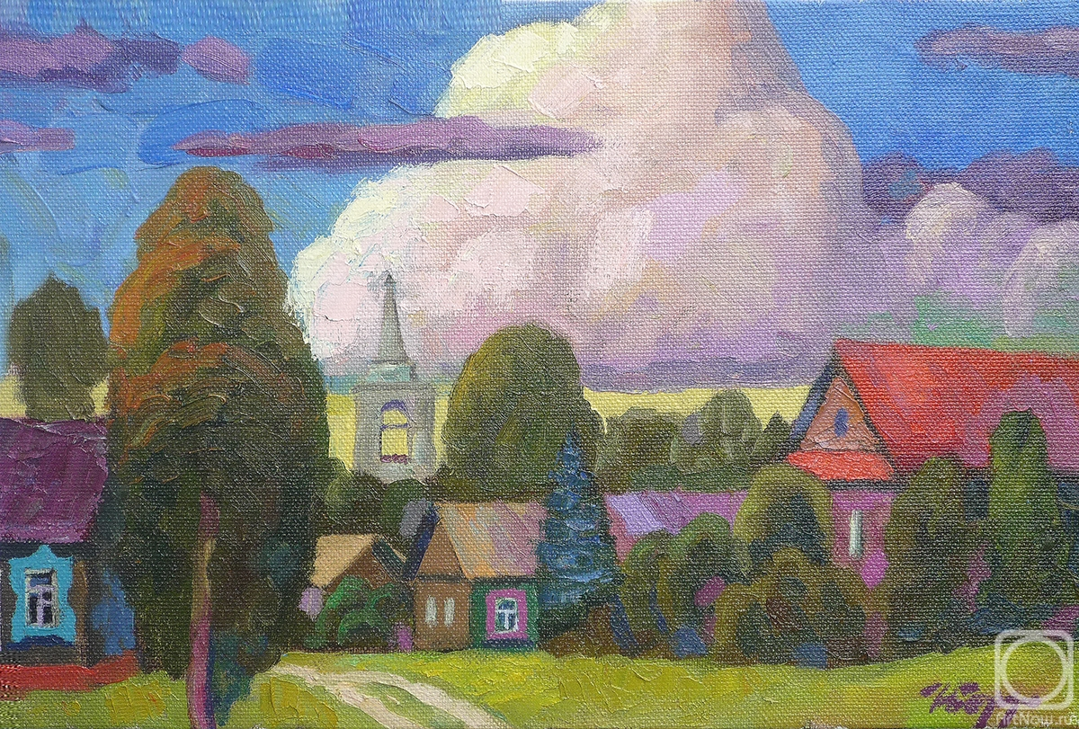 Berdyshev Igor. The cloud above the village