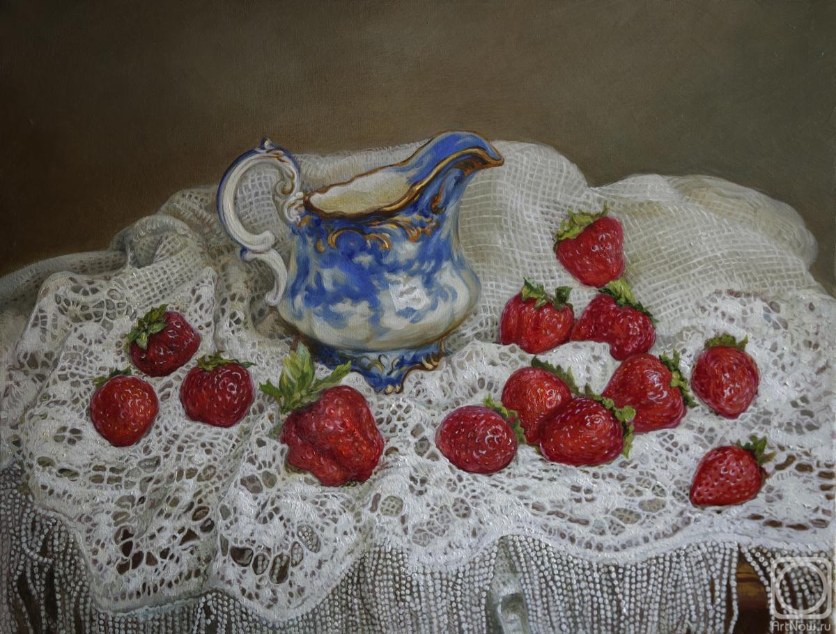 Panov Eduard. Lace and strawberries