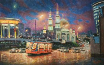 Razzhivin Igor. The evening lights of Moscow