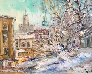 Charina Anna. Snow day. The courtyard in the Silversmiths