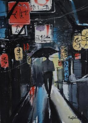 Petrovskaya Irina. Chinatown. Night