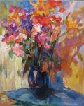 Bocharova Anna. Bouquet with Turkish carnation and lilies