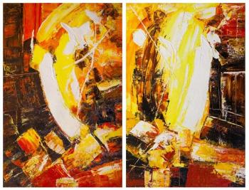 Vevers Christina. In the heart of the volcano. Diptych N2