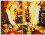 In the heart of the volcano. Diptych N2. Vevers Christina