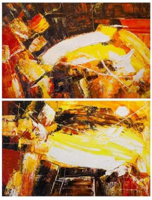 Vevers Christina. In the heart of the volcano. Diptych