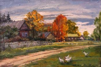 Early autumn in the village. Rybina-Egorova Alena