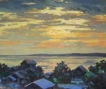Galich. Sunset over the lake. Vedeshina Zinaida