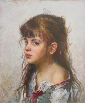 "A copy of the work Kharlamov ""portrait of a girl"". Matveev Mihail"