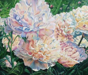 Voloshina Ekaterina. Paints of peonies