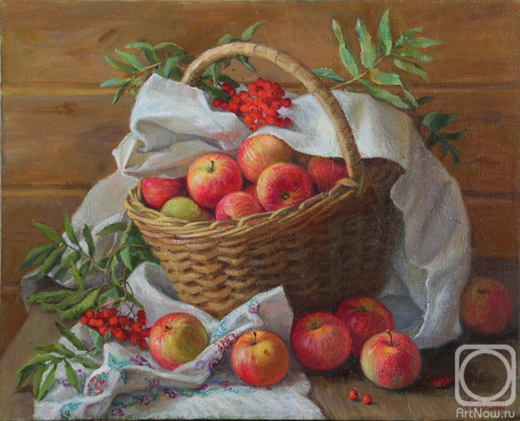 Shumakova Elena. Basket with apples