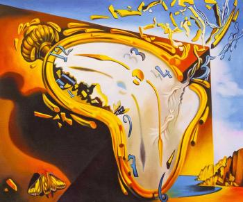 A copy of Salvador Dali's painting. A soft watch at the time of the first explosion. Kamskij Savelij
